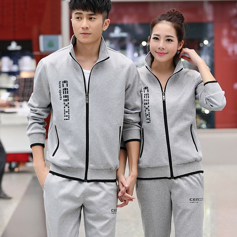 Sports Set Men's Spring And Autumn Sports Clothing Set Couples Women's 2019 New Style Casual Running Sports Clothing Coat Men's