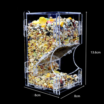 Small Pet Feeder Acrylic Hamster Feeding Supplies Transparent Guinea Pig Feeding Box 3
