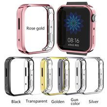 Soft Clear TPU Eletroplating Protective Case Full Cover for Xiao-mi Mi Watch