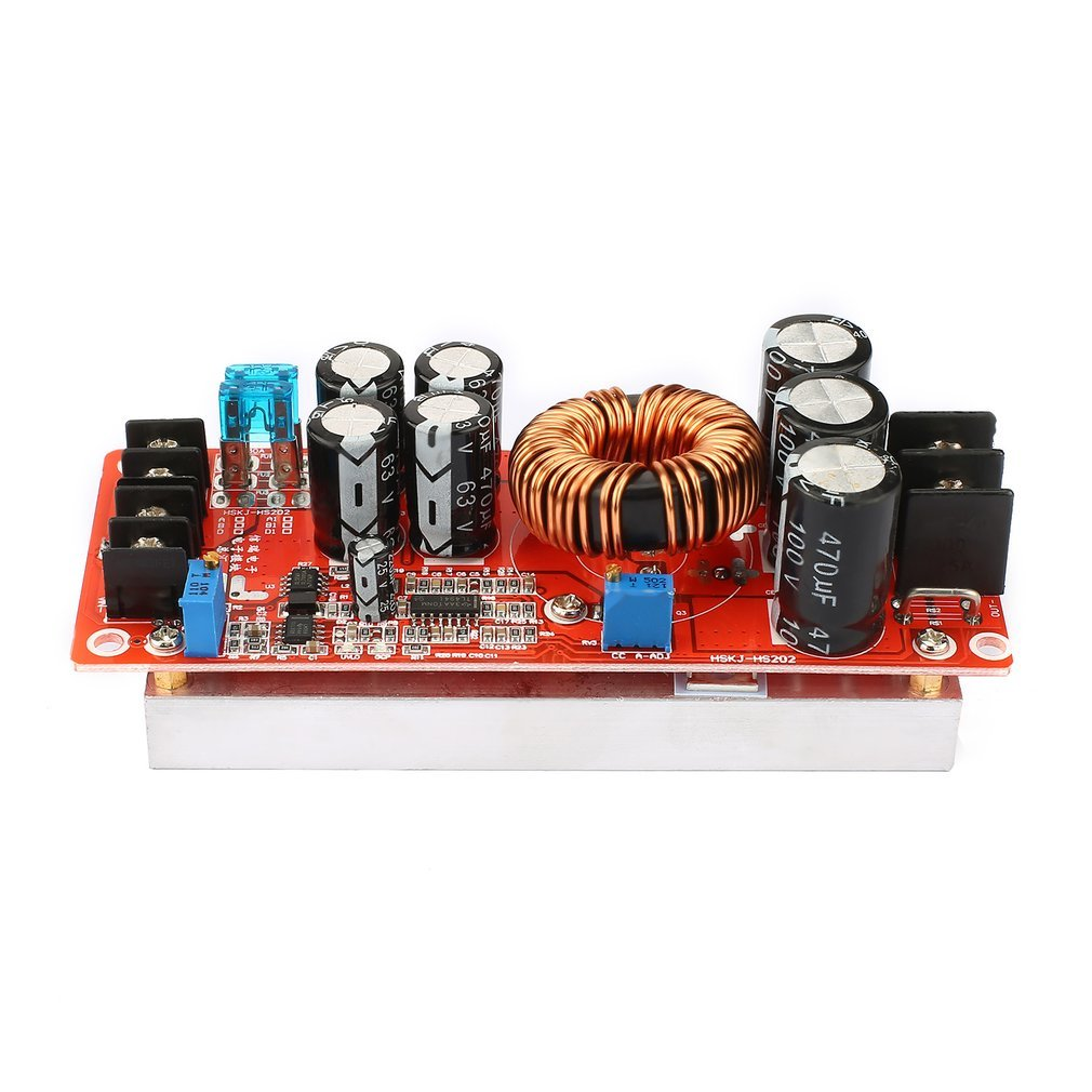 Portable 1200W Constant Current DC Boost Converter Power Supply Step-up Module 10V-60V 20A Input 12V-80V Output
