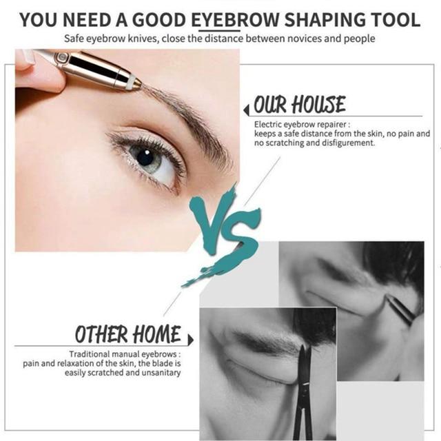 Electric Eyebrow Trimmer Makeup Painless Eye Brow Epilator Mini Shaver Razors Portable Facial Hair Remover Women depilator 2