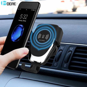 DCAE Wireless Car Charger 10W Qi Fast Charge Car Mount Gravity Air Vent Phone Holder for iPhone 11 Pro XS XR X 8 Samsung S10 S9