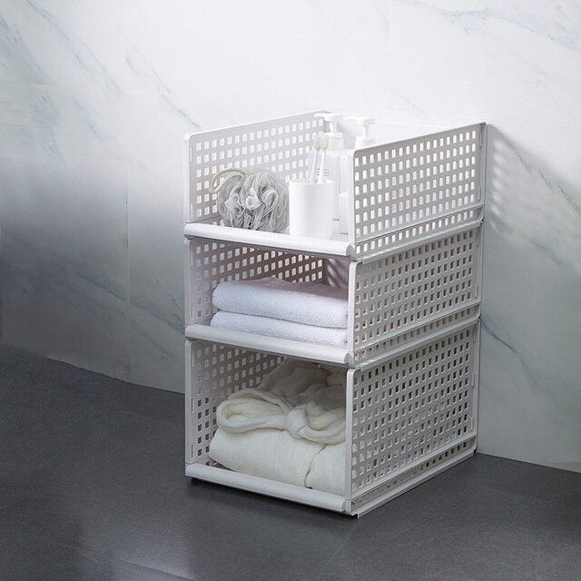 Organizador de ropa desmontable armario tablero de partición estante cajón caja de almacenamiento para dormitorio estante de almacenamiento apilable de varias capas