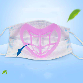 IN STOCK 3D Masks Cone Reusable Face Mouth Mask Bracket Face Shields For Adults Women Fashion Silicone Breathing More Smoothly image