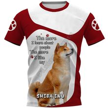 Dog Print T-shirt 2021 Latest Hand-painted Street Style | Beach Pants | Hoodie | All-match T-shirt Round Neck Breathable Style