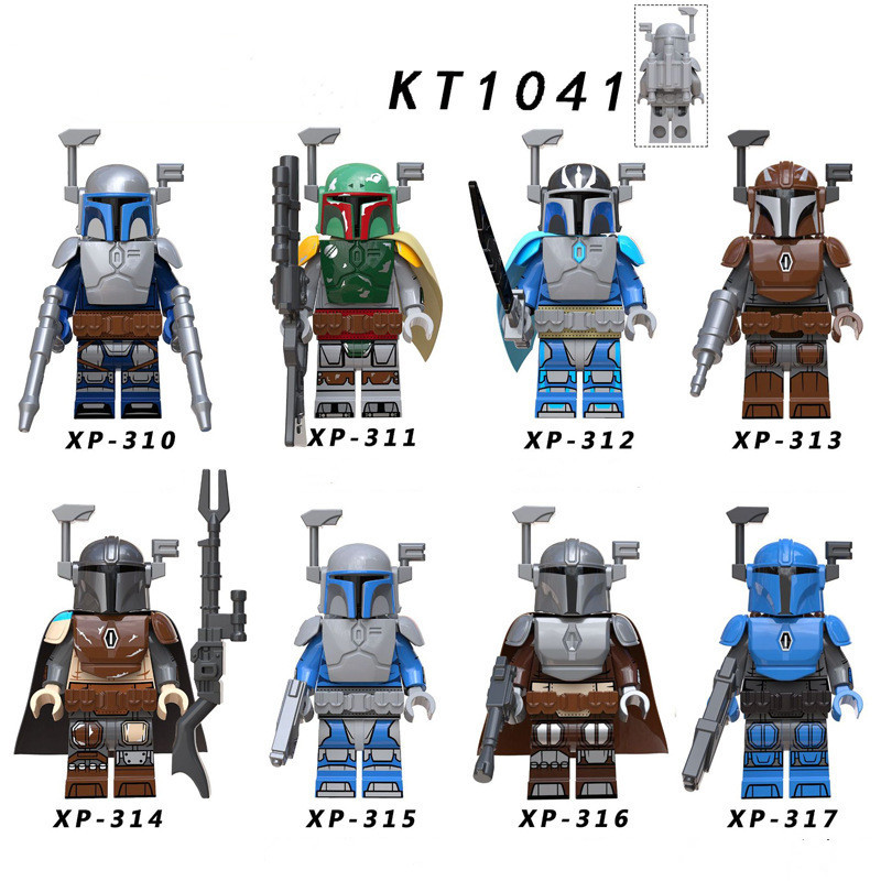 Small Building Blocks 8Pcs/Set Star Wars Darth Maul Leia Rey Vader Luke Bricks Building Blocks Mandalorian Toys For Kid