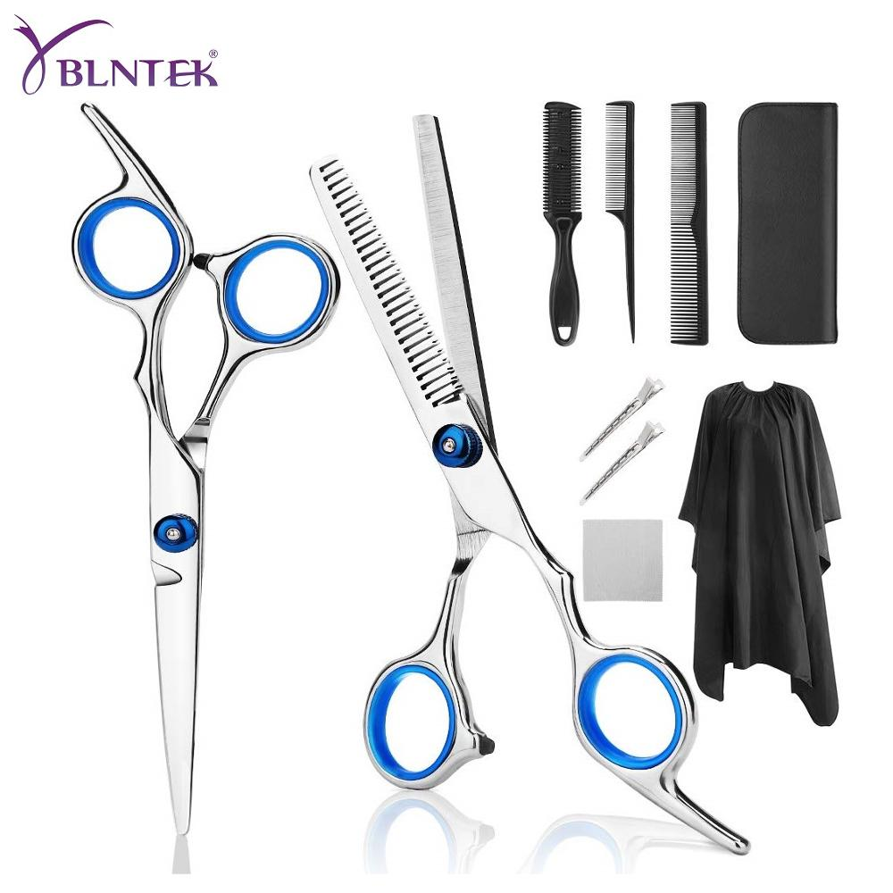 YBLNTEK 9 PCS Professional Hairdressing Scissors Kit Hair Cutting Scissors Hair Scissors Tail Comb Hair Cape Hair Cutter Comb