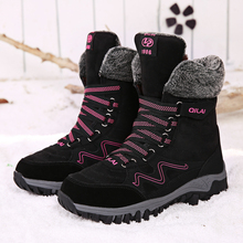 allwesome  ankle boots 2019 luxury shoes women designers New Arrival Fashion Suede Leather Women Snow Boots