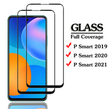 p smart 2021 full cover protective glass for huawei p smart 2021 protection film psmart 2020/2019 screen protectors p smart 2021