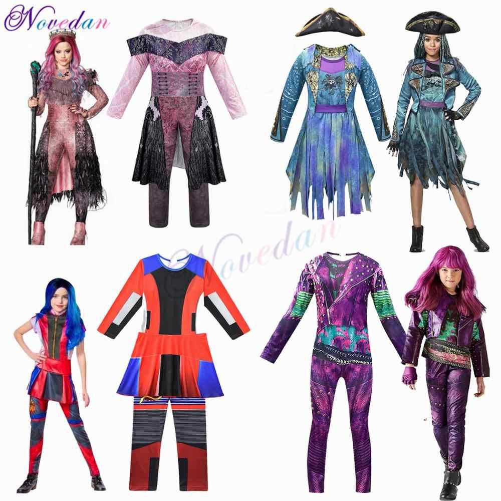Kids Descendants 3 Audrey Mal Evie Halloween Costume Jumpsuit Fancy Dress Outfit
