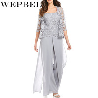 WEPBEL Women Jumpsuits Casual Solid Color Lace Full Length Mesh Sexy Fashion New Long S 5XL Pants Jumpsuit