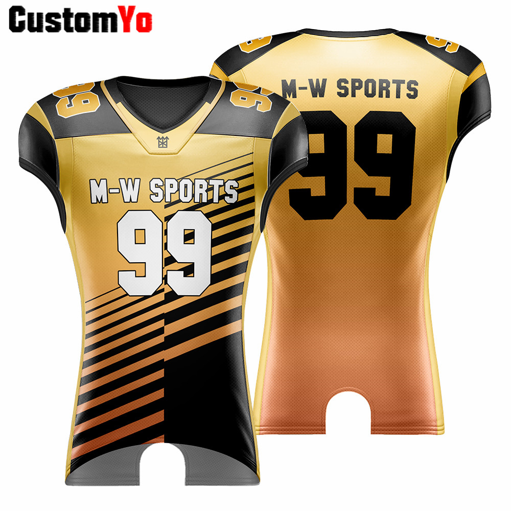Cut/Sublimation Youth Adult Training Breathable Football Shirt Fashion American Football Jerseys image