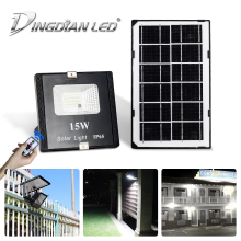 15W Solar Light LED Solar Lamp Flood Light Remote Control Street Lamp Waterproof SolarSpot Lights for Outdoor Solar Garden Light 12w led solar lamp with remote control outdoor garden waterproof street lights solar sensor lights lampe solaire jardin lampara