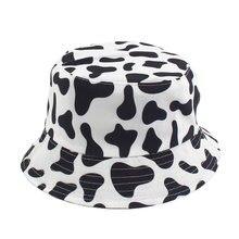 Новая мода с принтом коровы шапка белого и черного цвета ведро