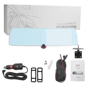 New 4.5 Inch Contact Screen 3 Lens Full HD 1080P Car DVR Camera Auto Rearview Mirror Digital Video Recorder Camcorder