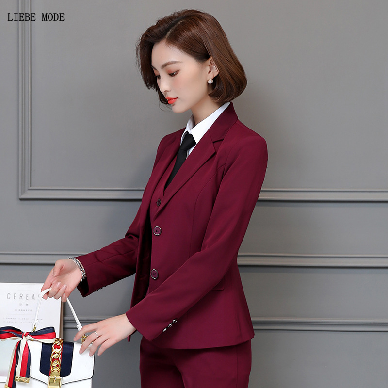Elegant Womens Suit Office Lady Set High Quality Woman Business Work Suits Jackets Shirts Skirts Pants Female Fashion Outfit