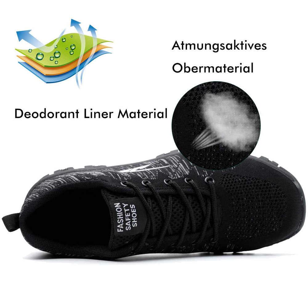 Dropshipping zapatos de seguridad a prueba de pinchazos indestructibles antideslizantes zapatos de trabajo de punta de acero zapatos transpirables al aire libre para hombres