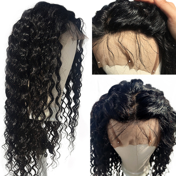 EMOL Human Hair Deep Wave Wigs Brazilian Remy Hair Pre Plucked With Baby Hair 13x4 Lace Front 150% Density Human Hair Wigs body wave lace front wigs 150 density 13x4 lace front human hair wigs with baby hair brazilian remy human hair lace closure wigs