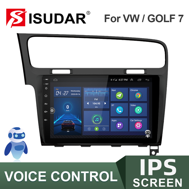 ISUDAR راديو السيارة VW/Volkswagen/Golf 7 ، مستقبل الشاشة ، V57S ، Android ، IPS ، GPS ، CANBUS ، DVR ، كاميرا No 2 Din