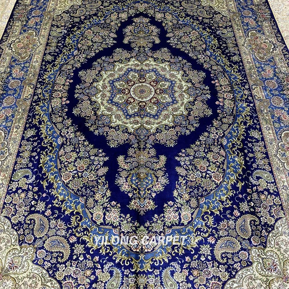 Yilong 6'x9 'Vantage persain alfombra de dormitorio azul oscuro hecha - Textiles para el hogar - foto 4
