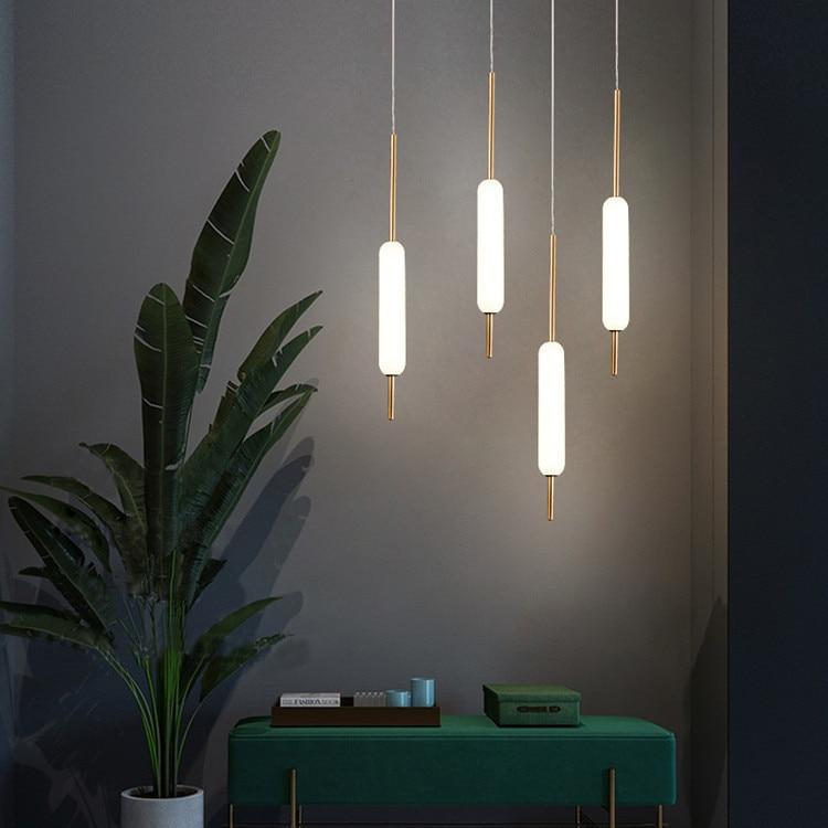 Modern Hanglamp Lustre Pendente Wood Home Decoration E27 Light Fixture  Restaurant   Living Room  Luminaire Industrial Lamp