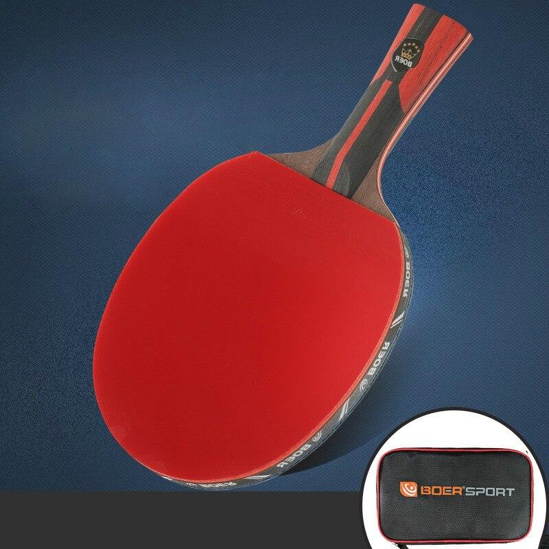 Table Tennis Rubber Ping Pong Rackets Soft Sponge Rubber Ergonomic Long/Short Handle Table Tennis Long Pimple Rubber