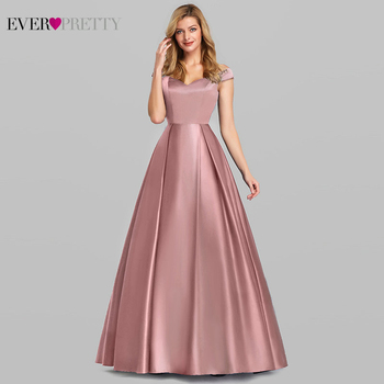 Navy Blue Elegant Women Long Prom Dresses 2020 Ever Pretty Satin A-LIne V-Neck Off The Shoulder Vintage Formal Party Dresses navy blue satin evening dresses ever pretty ep07934nb a line v neck elegant formal long dresses vestidos de fiesta de noche 2020