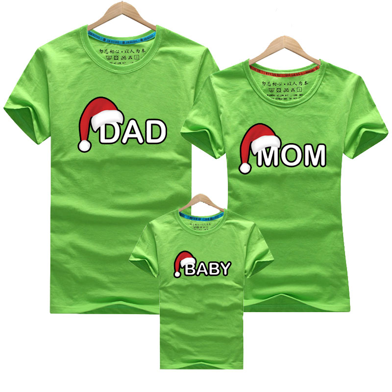 Hea39d8e01ae7494a874398506cd94b9cL - Dad Mom Baby Christmas T-Shirt Clothing for Family Matching Outfits Clothes Mother Daughter Father Son Look Mommy and Me Shirt