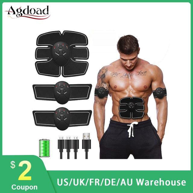 جهاز تدريب عضلات البطن الذكي محفز عضلات البطن EMS جهاز تدليك عضلات البطن جهاز تدليك بمنفذ USB