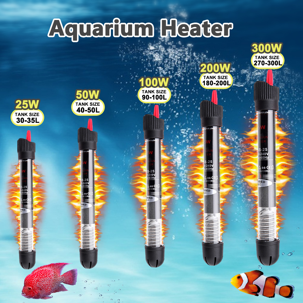 Автоматический нагреватель для аквариума с постоянной температурой, энергосберегающий нагреватель, водонагреватель для аквариума, аксесс...