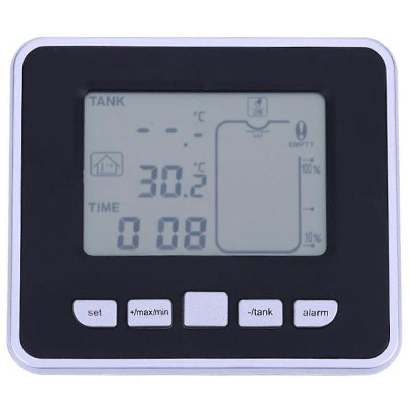 Hho-wireless réservoir à ultrasons niveau de liquide débitmètre d'eau avec température réservoir d'eau transmetteur de montage vis de mesure aussi
