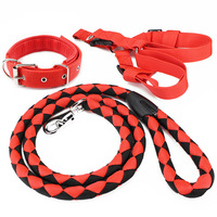 Pet supplies dog leash woven twist nylon dog chain rope large dog chest strap traction rope comfortable wear multicolor
