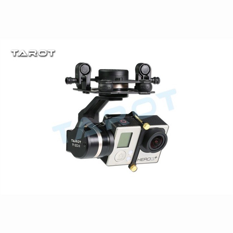 Tarot TL3T01 Update from T4 3D 3D Metal 3 axis Brushless Gimbal for FPV RC Drone Photography for GOPRO4 for Gopro3 for Gopro3+ - 3