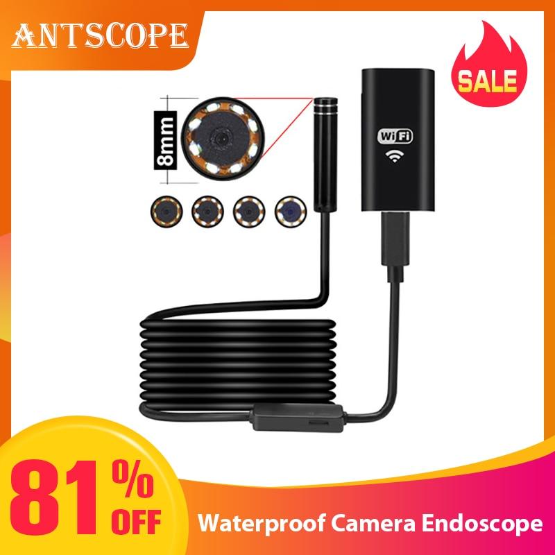 Antscope 8mm Endoscópio Wifi HD Camera para Android iPhone 5 2 10M 720P Endoscópio Inspeção Borescope Pipe câmera à prova d' água 19