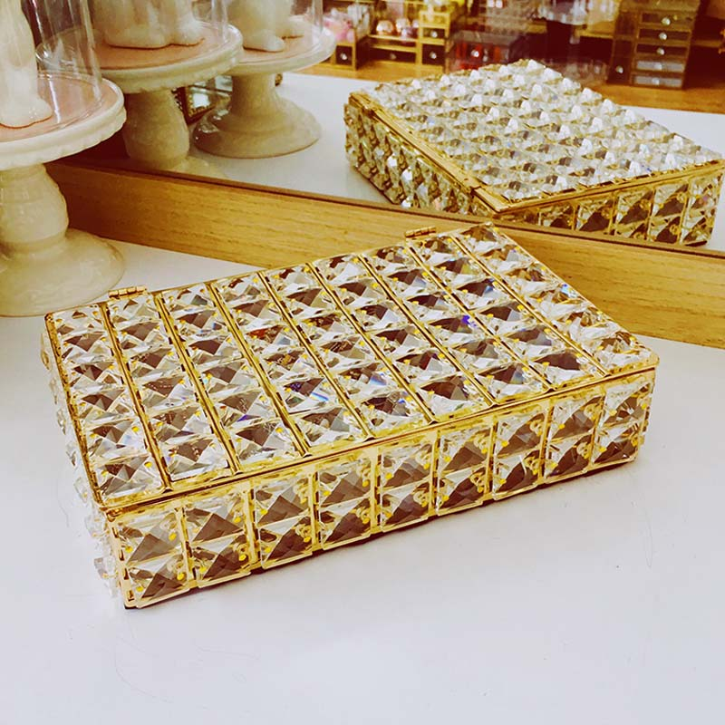 Mordoa Wedding Jewelry Box Gold Candy Ring Earrings Necklace Case Gift Birthday Party Wedding Decor Packaging