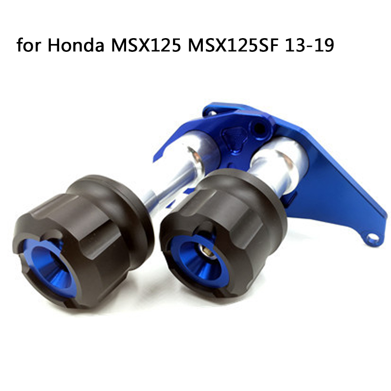 For Honda MSX125 MSX125SF Motorcycle aluminum Accessories engine anti-fall bar body protection Crash Pads Frame Sliders 13-19
