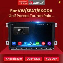 Junsun V1pro 2G+32G DSP Android10 Car Multimedia Player Radio GPS For Volkswagen VW Passat B6 Touran GOLF5 POLO jetta 2 din DVD