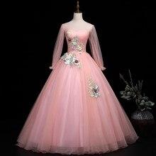 Quinceanera vestidos 2020 colher rosa tule vestido de baile 15 vestidos para quinceanera rendas apliques vestidos de 15 anos vestidos de baile