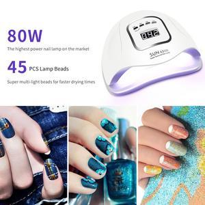 Image 5 - 80w/72w sunx5 max uv conduziu a lâmpada para secador de unhas lâmpada de gelo para manicure gel lâmpada de secagem para gel verniz