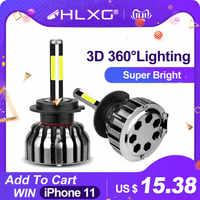3D 360 gradi 4 Lati H4 LED H7 H11 HB3 HB4 H1 H27 880 881 Luci Auto High Beam Basso 12V Nebbia 12000LM luces led para auto hlxg