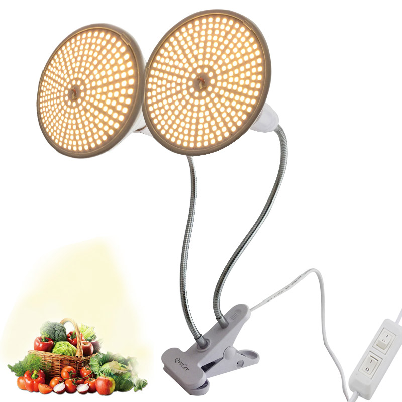 New 290 LED Plant Grow Light Sunlight Indoor Full Spectrum Phyto Yellow Lamp Hydro Growing Veg Flower Seeds Greenhouse Winter