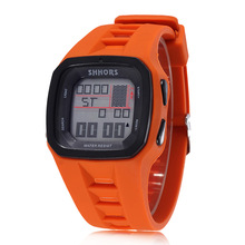 Luxury Brand Shhors Fashion Led Digital Electronic Watches Men Sports Watches Waterproof Silicone Watches Reloj Hombre herrenuhr cheap WoMaGe Resin 25cm 3Bar Fashion Casual Buckle Square 26mm 15mm Glass Stop Watch Back Light Shock Resistant LED display