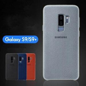 Image 2 - Samsung S9 durumda orijinal hakiki süet deri donatılmış koruyucu kılıf Samsung S9 artı S9 + EF XG9650 9500 için Galaxy s9 kapak