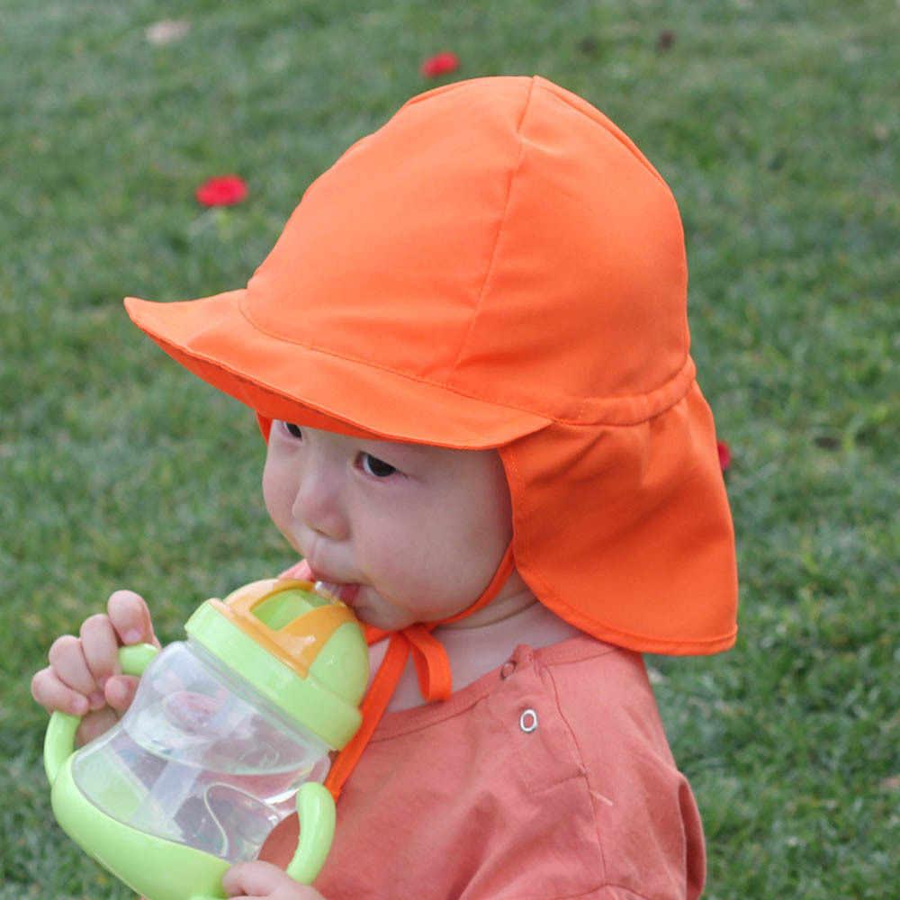 หมวกเด็กอ่อนฤดูร้อน UV ป้องกันคอหมวกชายหาดหมวกเด็กกลางแจ้งกิจกรรมหมวกชาวประมง
