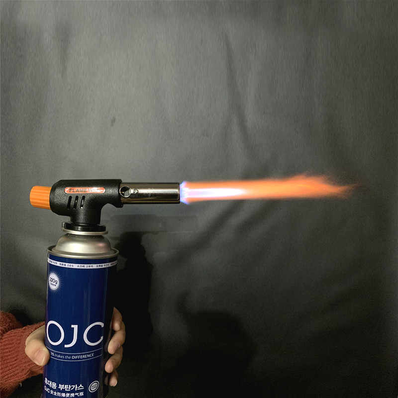 자동 점화 베이킹 용접 도구 가스 토치 Flamethrower 부탄 버너 바베큐 캠핑 야외 하이킹 화재 불꽃 총