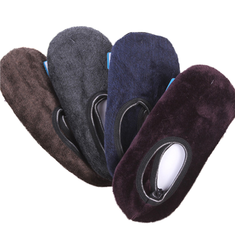 Men's Winter Plus Velvet Floor Thermo Socks Adult Non-slip Padded Home Slipper Gift For Male Novelty Warm Socks Men Winter Socks