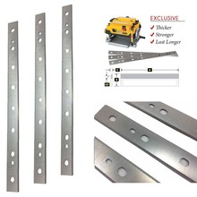 3pcs 13inch HSS Planer Blades For DW735 (Rep DW7352) 128000 45 Degrees Reversible Honed Cutting Edges 334*20*1.5mm