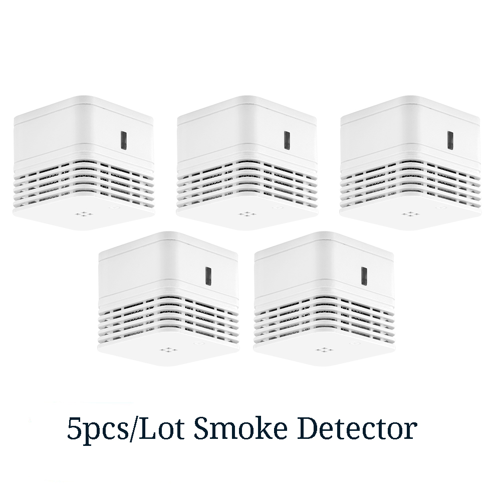 CPVan 5pcs/Lot Smoke Detector EN14604 Fire Wireless Smoke Alarm CE Certified 85dB Loud Alarm Smoke Sensor Photoelectric Sensor