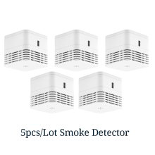CPVan 5pcs/Lot smoke detector EN14604 fire wireless smoke alarm CE certified 85dB loud alarm smoke sensor photoelectric sensor