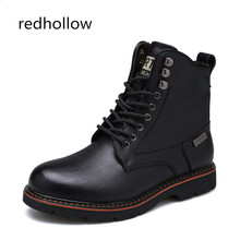 Men Shoes Fashion Martin Boots Warm Fur Winter Men Boots Genuine Leather Snow Ankle Boots for Man Footwear New Casual Shoes Men unisex leather boots fashion winter autumn motorcycle martin boots men casual ankle boots warm couple snow boots big size